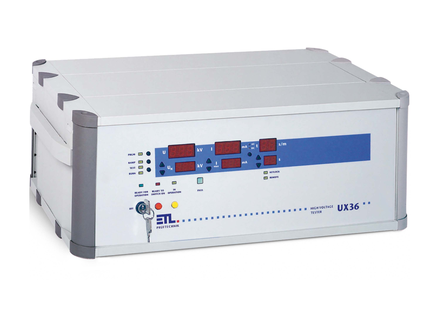 UX36-DC-10-0010-TPT   [10kV DC / 50 mA 500 VA with dry transformer] Flash Tester (HIPOT)